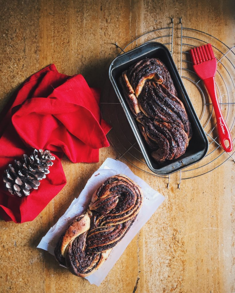 Nutella Babka With Brownie Bits