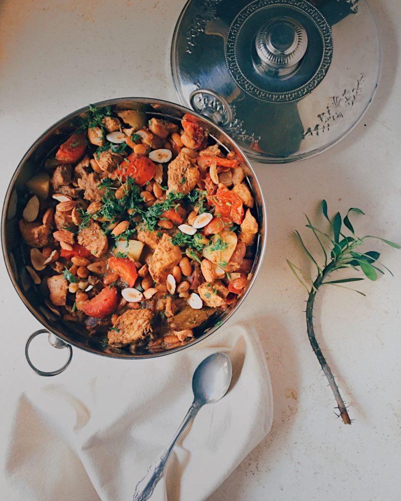 Moroccan Chicken, Harissa and Bean Stew