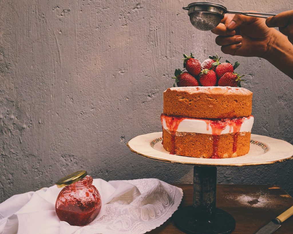A Victoria Sandwich With Strawberry Amla Jam