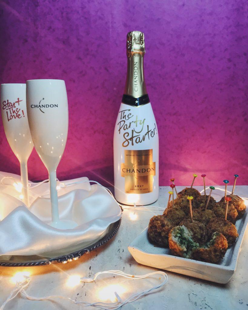 Chicken Kiev Balls With Sparkling Wine