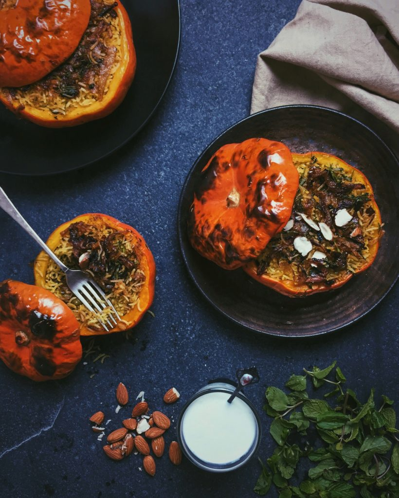 Stuffed Pumpkin Biryani