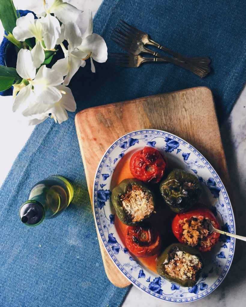 Greek Stuffed Tomatoes and Peppers With Rice or Gemista