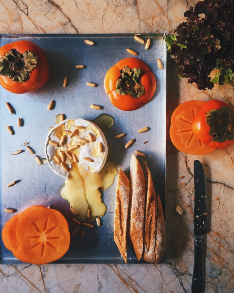 Baked Brie and Persimmons