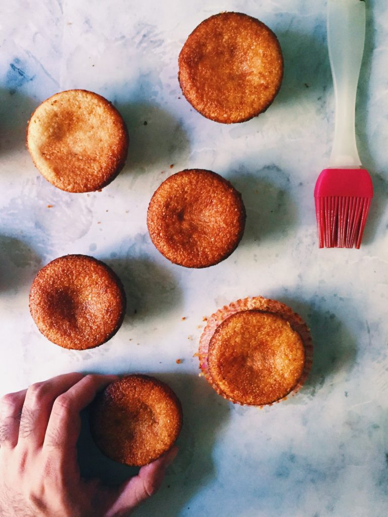 Ottolenghi's Semolina-Lemon Syrup Cakes