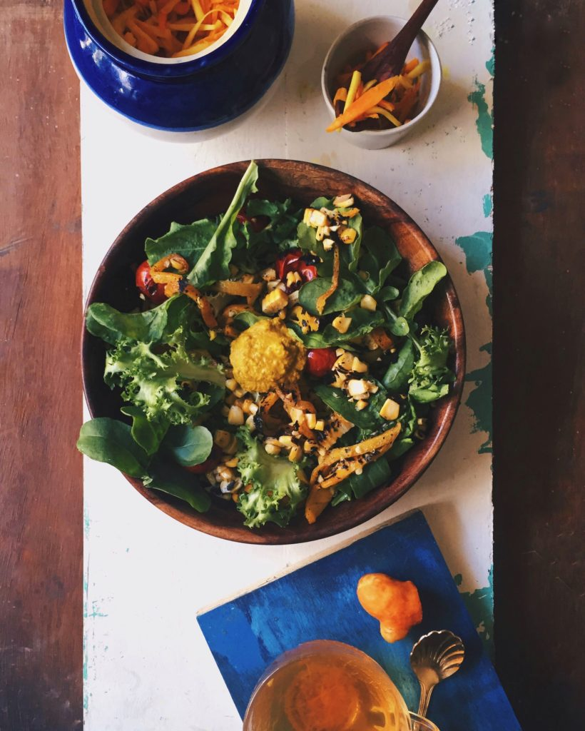 Ottolenghi's Pepper and Corn Salad With A Turmeric Dressing