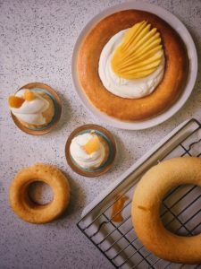 Savarin with White chocolate cream and Mango