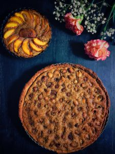 Cherry and Walnut frangipane tart