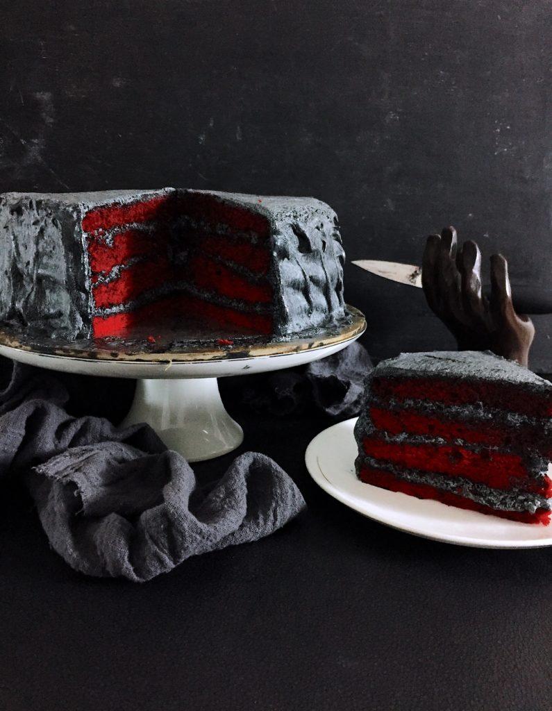A Stranger Things Red Velvet Cake