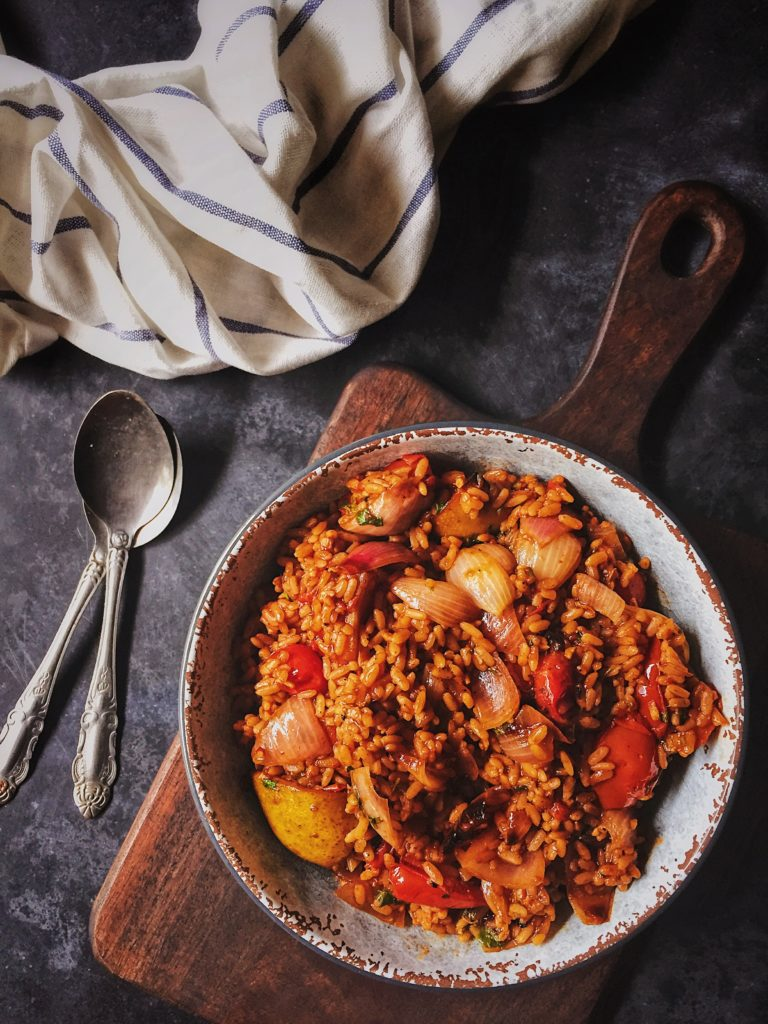 Roasted Tomatoes With Sweet Limes and Red Rice