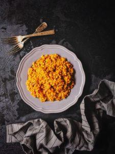 Harissa-Spiced Pearl Barley Risotto