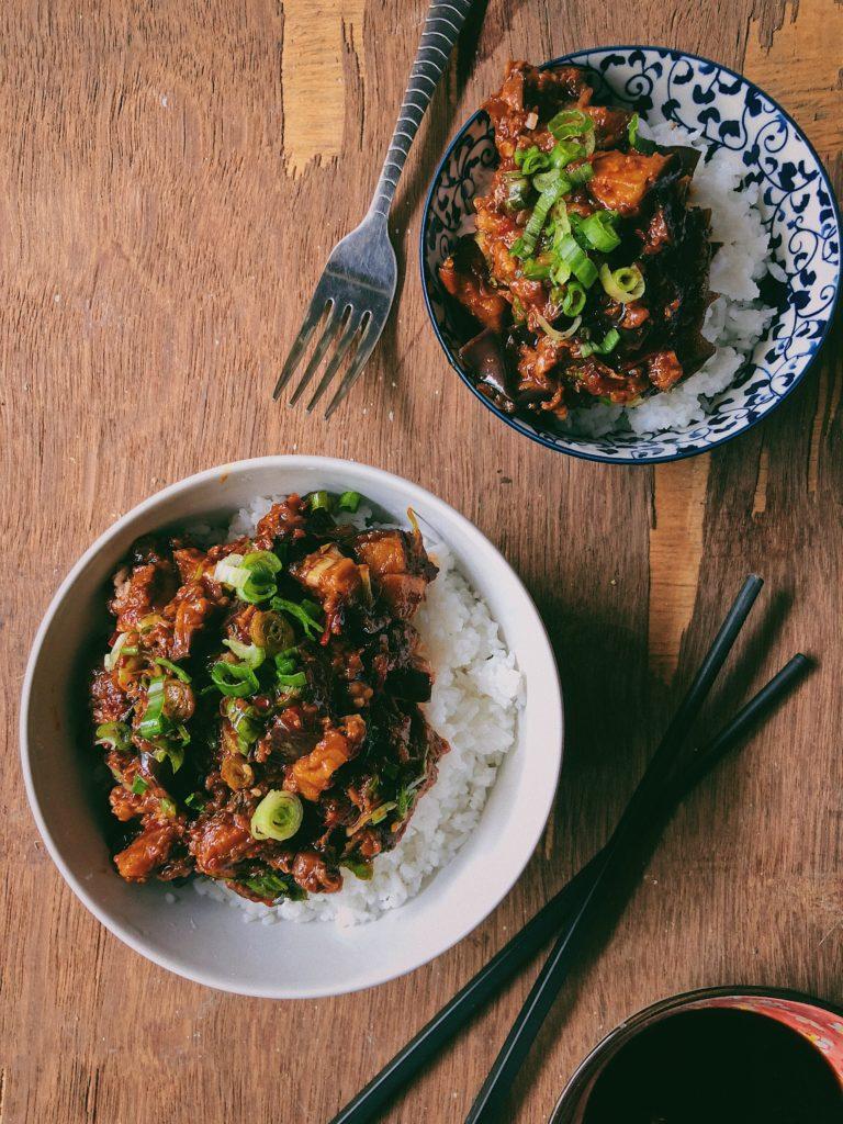 Mapo Aubergine Rice Bowl