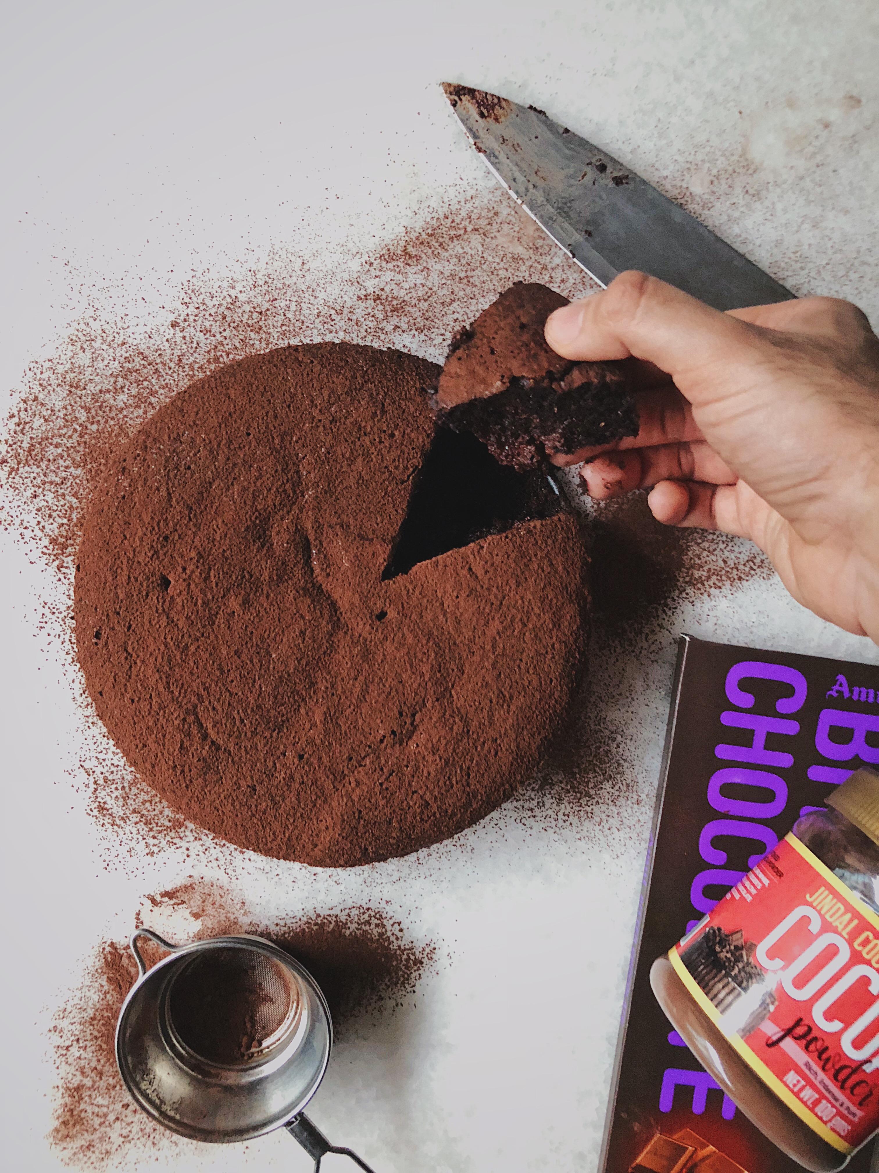 Flourless Chocolate Cake In A Bain-Marie
