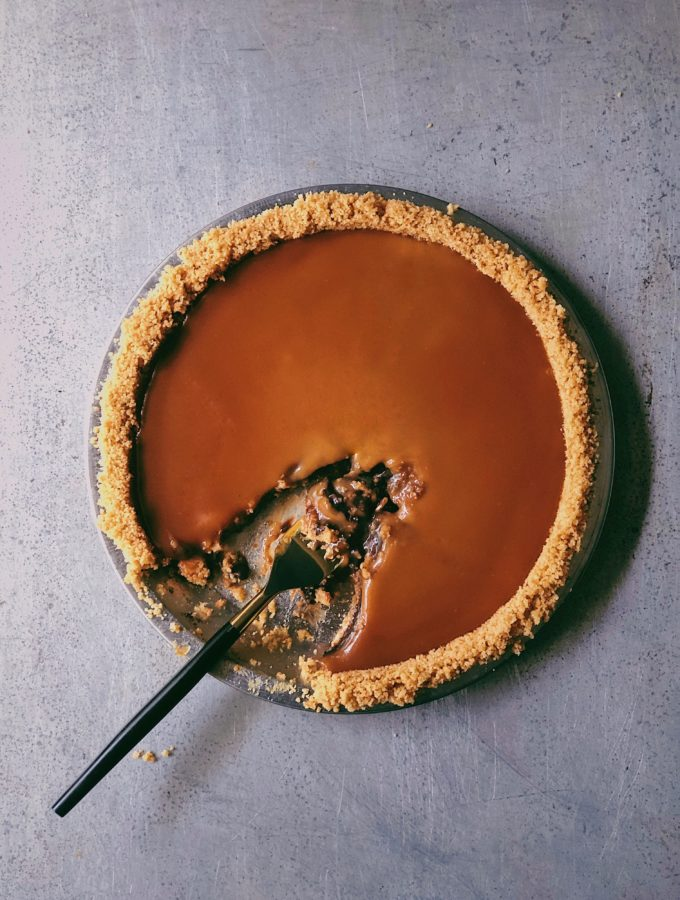 Old-Fashioned Chocolate Cream Pie With Salted Caramel Sauce 2