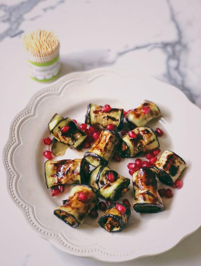 Eggplant roll-ups with adjika 2