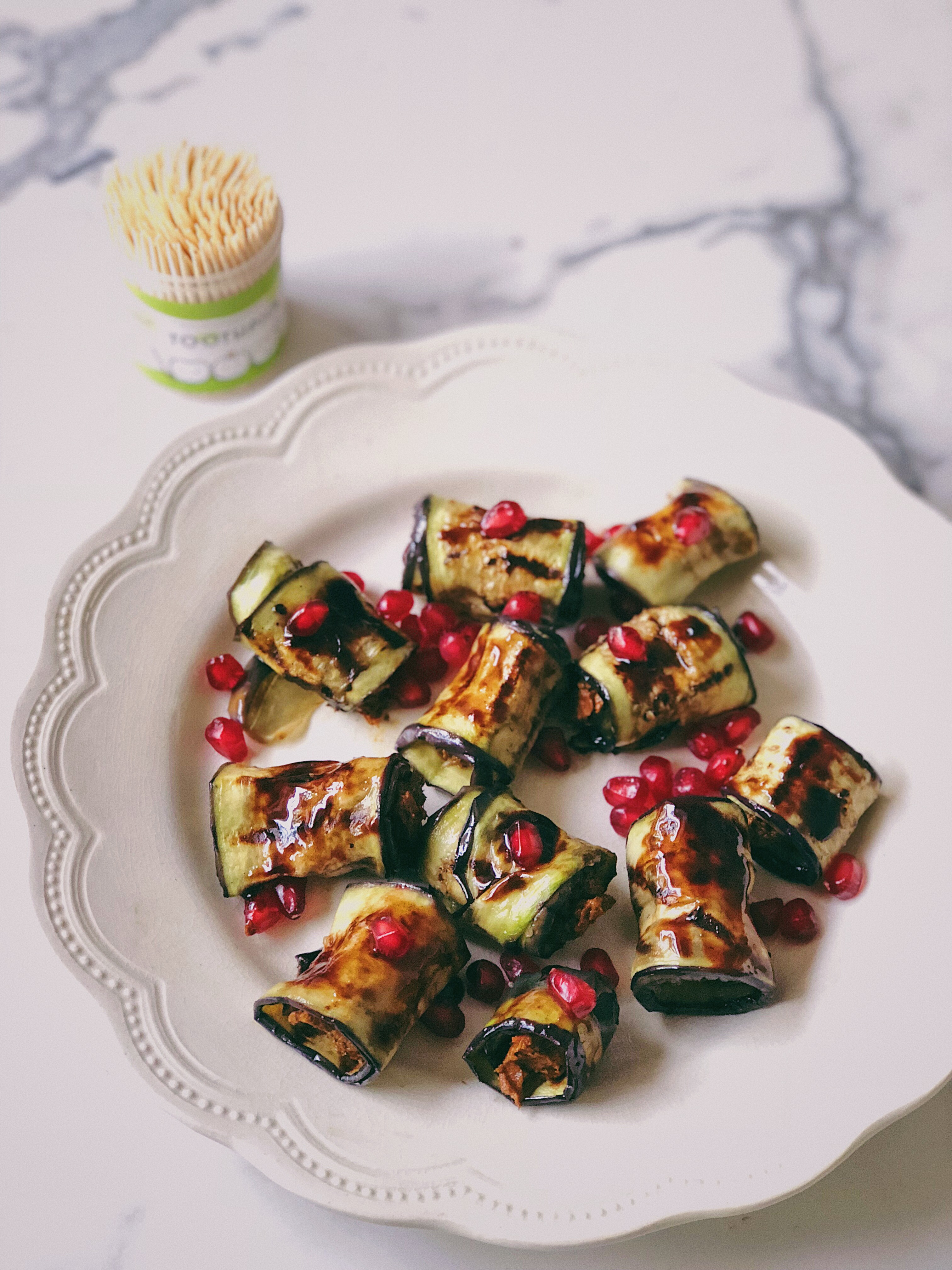 Eggplant Roll-Ups With Adjika