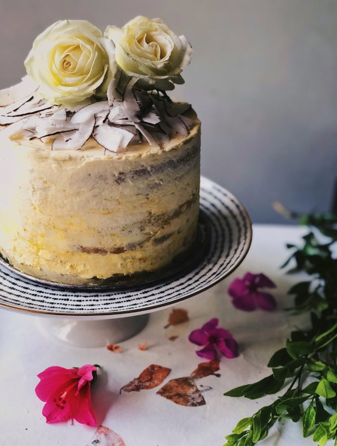 Coconut Cake With Alphonso Mango Curd & Lime Buttercream 4