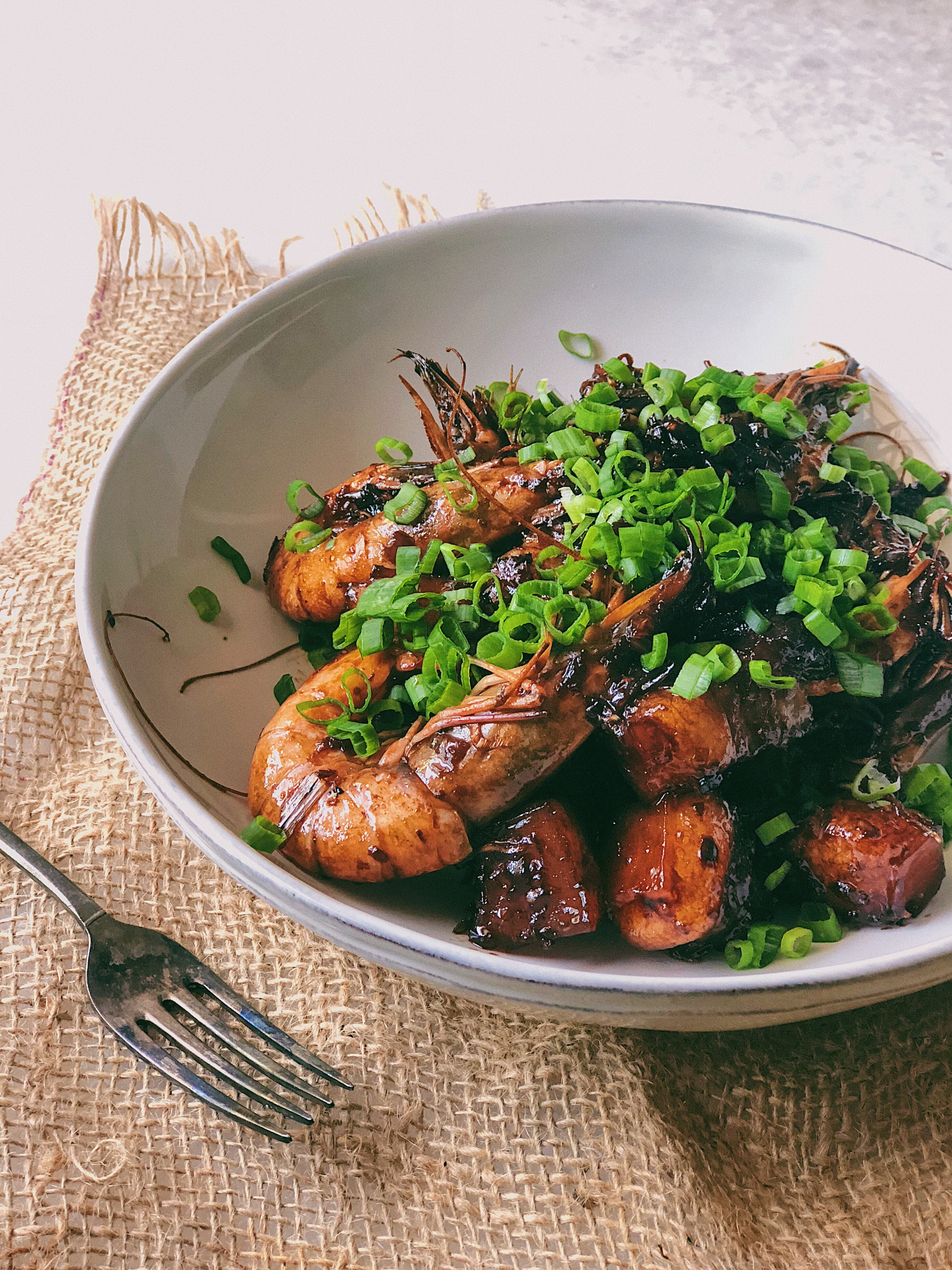 Prawns and Pork Belly