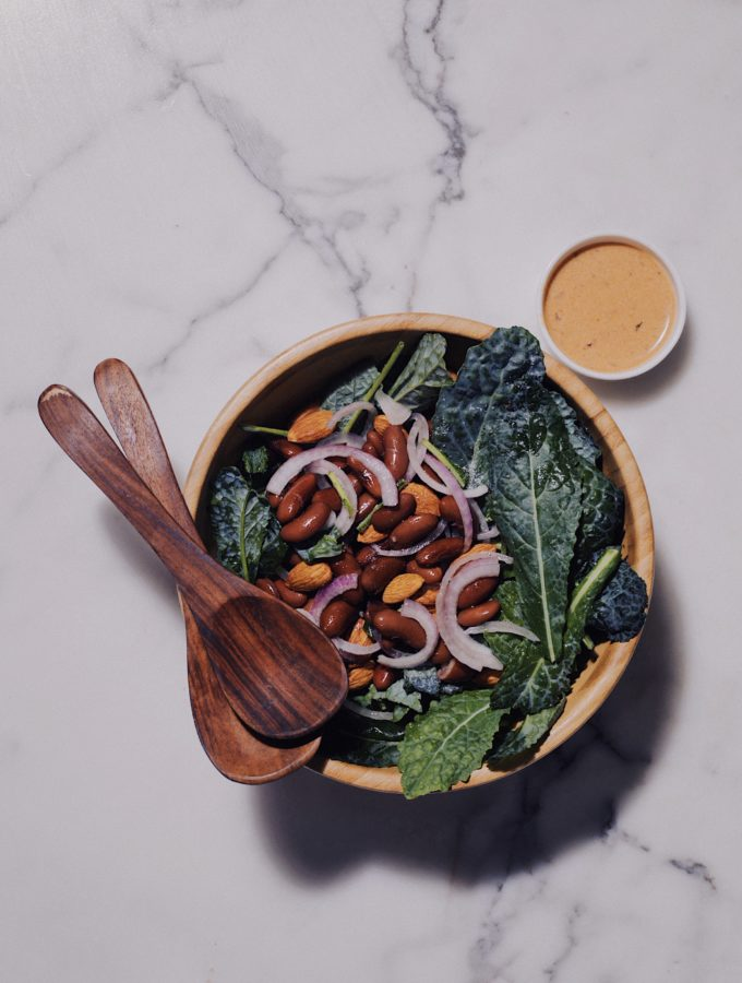 Baby Kale and Kidney Bean Salad With A Chipotle Coconut Milk Dressing 2