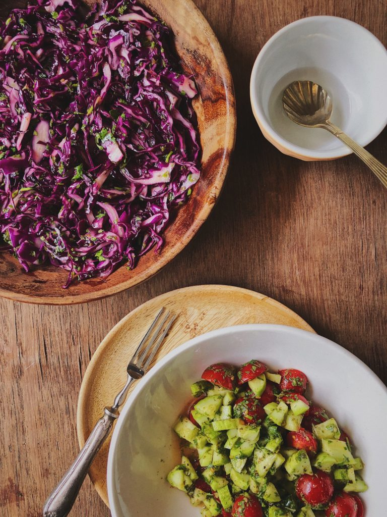 Red Cabbage Salad With Orange Blossom Water