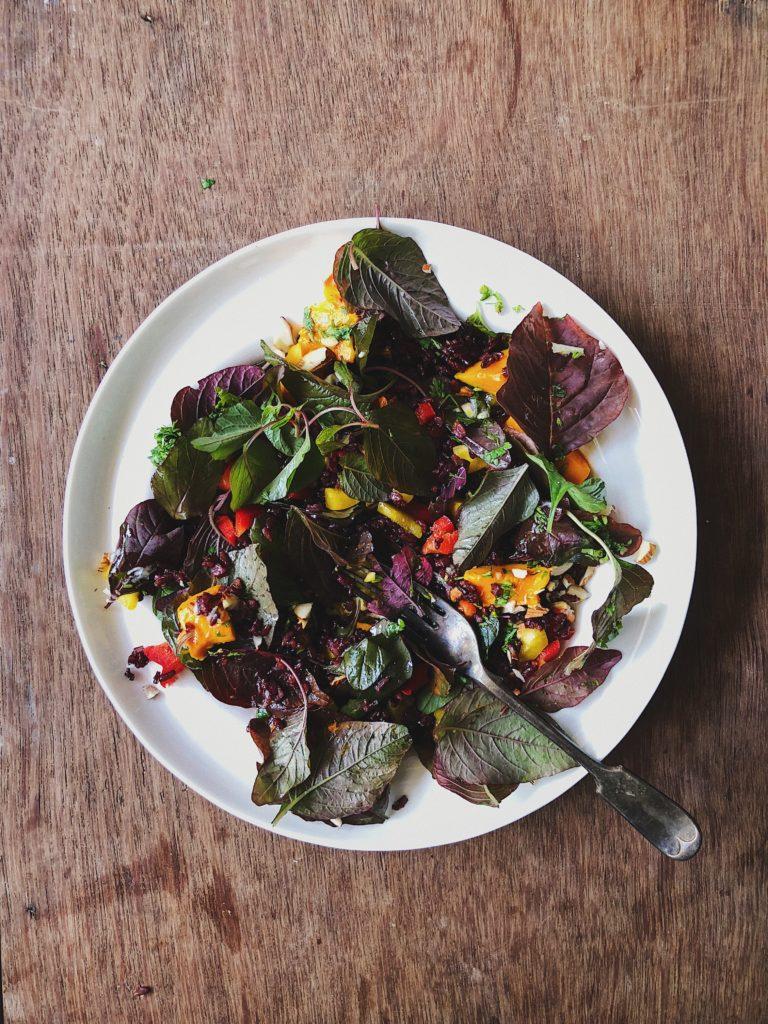 Alphonso Mango and Black Rice Salad