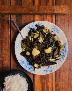 5 Spice Aubergine and Pak Choi Stir-Fry