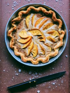 Salted Maple and Persimmon Tart