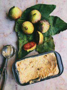 Fig Leaf and Vanilla Bean Ice Cream