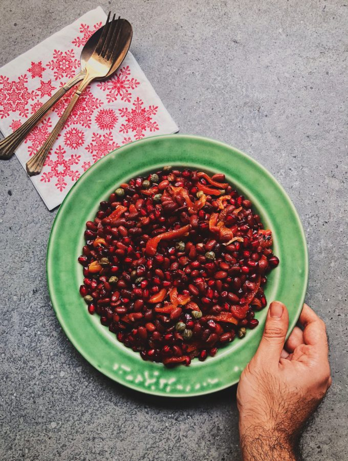 Red Kidney Bean and Charred Bell Pepper Salad