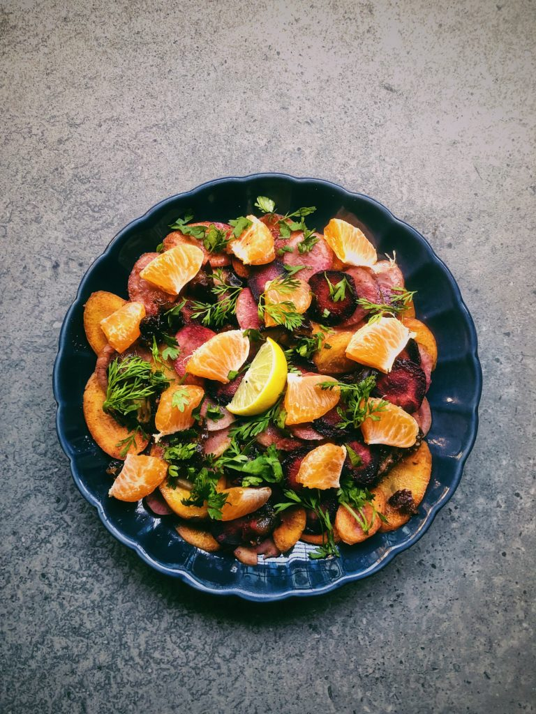 Chaat Masala Coloured Carrots and Dates