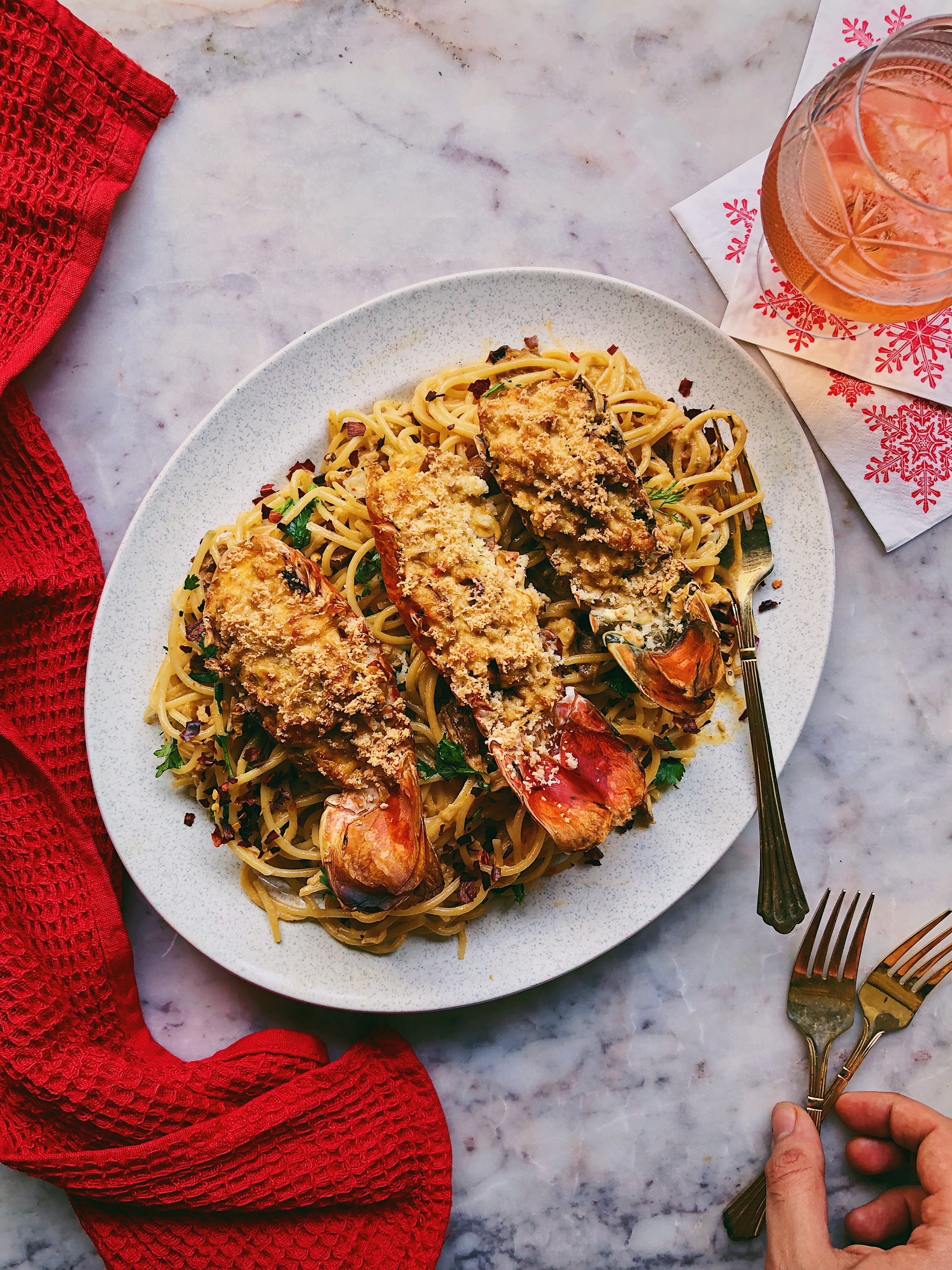 Lobster Thermidor and Spaghetti